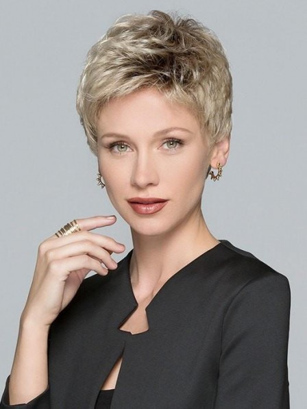 Timeless Pixie Cut Synthetic Lace Front Monofilament Wig