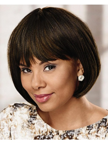 Health Design Straight Bob Wig With  Comfortable Stretch-To-Fit Cap