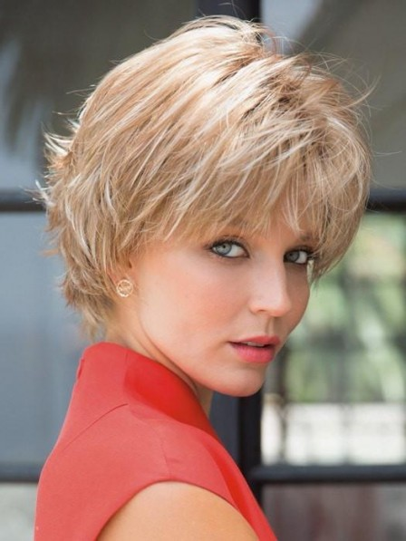 Pretty Short Straight and Textured Synthetic Hair Wig