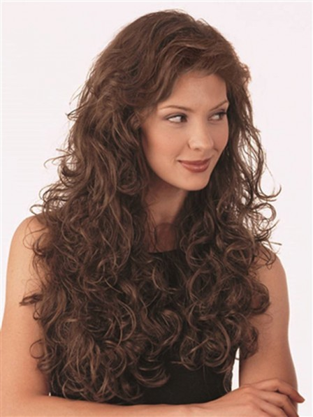 Small Curly Synthetic Long Wigs For Women
