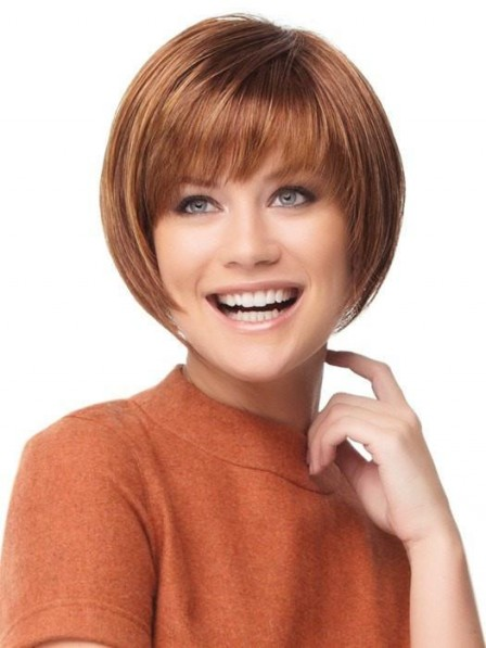 Smooth Bob Wig With Full Bang Chin Length Best Quality