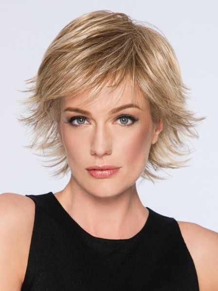 Wavy Spiky Cut Short Synthetic Wigs For Ladies Low Price