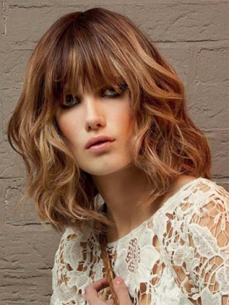 Timeless Mid-Length Capless Wavy Synthetic Wig