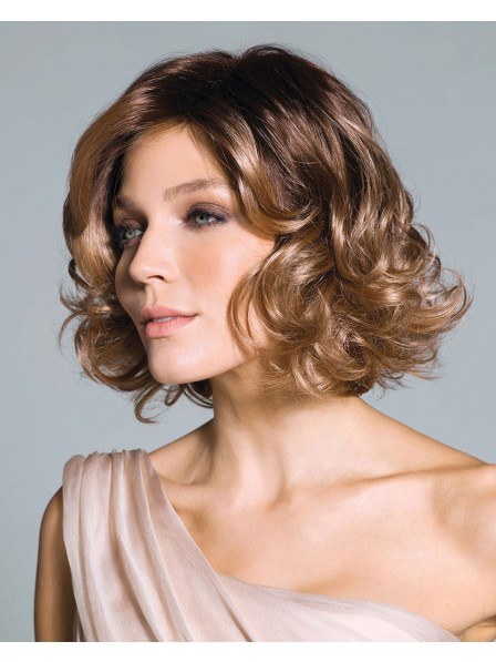 Really Nice Synthetic Shaggy Bob Style Wig With Curls