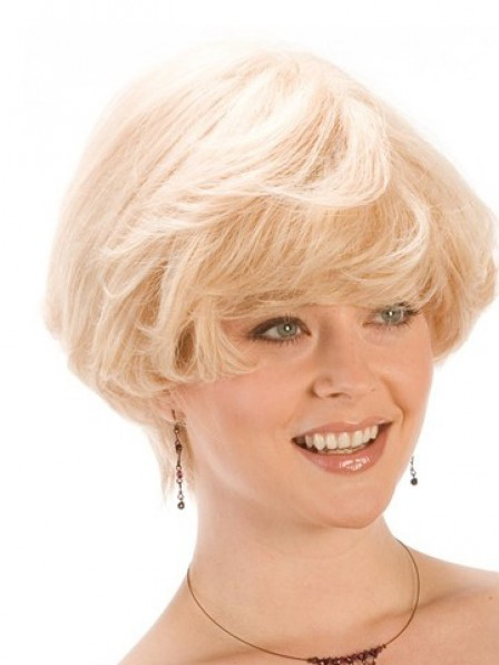 Choppy Short Wavy Synthetic Lace Front Wigs Natural Look