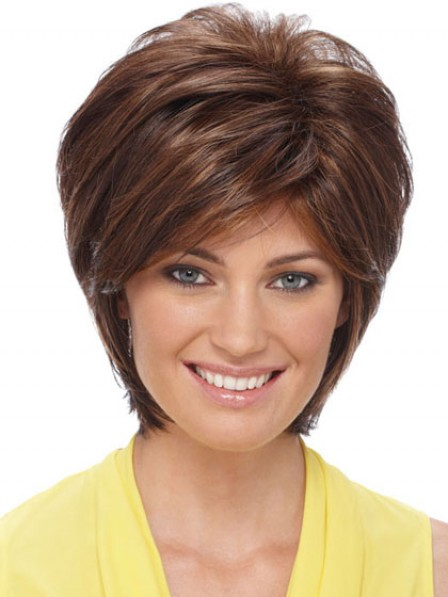 Modern Short Straight Synthetic Women Hair Wig Near Me