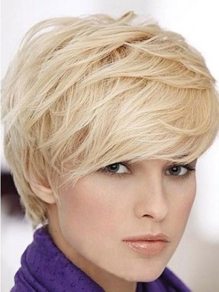 Fashion Synthetic Straight Boycuts Capless Women Hair Wig Hot Sale