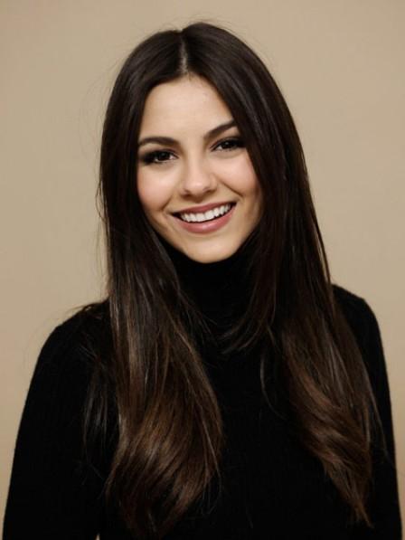 Pretty Sleek Long Straight Human Hair Lace Front Women Wig