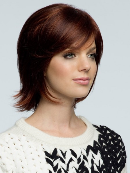 Nice Short Straight Human Hair With Side Bangs New Arrival