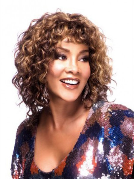 Classic 100% Human Hair Capless Curly African American Wig