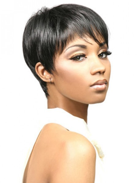 Classic Synthetic Cropped Straight Capless Hair Wig Hot Sale