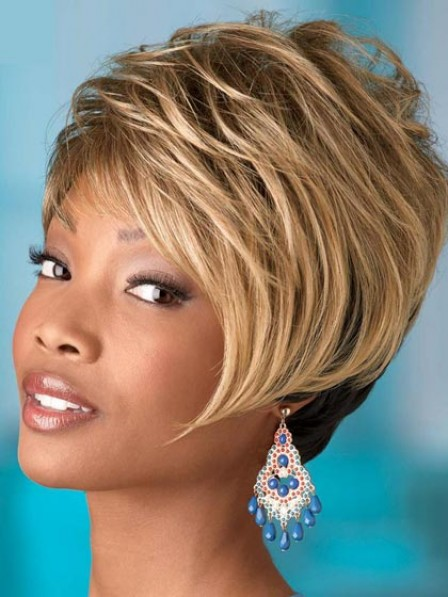 Unique Boycuts Short Straight Synthetic Wig With Side Bangs