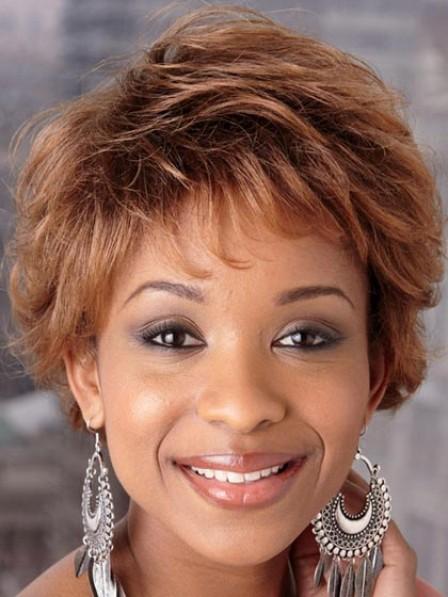 Cheap Short Wavy Synthetic Capless Afro Women Wig