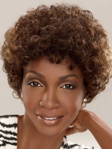 Cheap Black Women Synthetic Short Curly Women Hair Wig