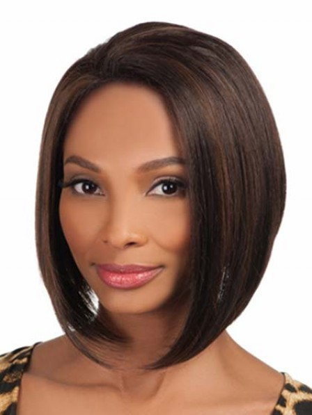 Smooth Lace Front Chin Length Bob Straight Synthetic Wig