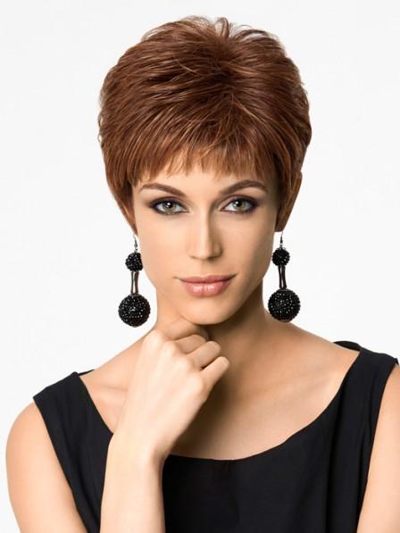 Modern Synthetic Pixie Cut Women Capless Straight Petite Wigs