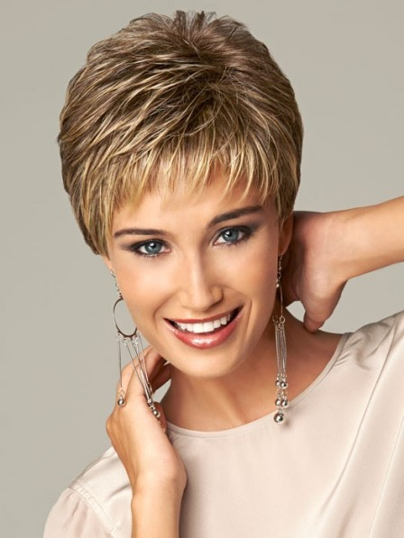 Natural Look Synthetic Cropped Straight Pixie Cut  Capless Hair Petite Wigs