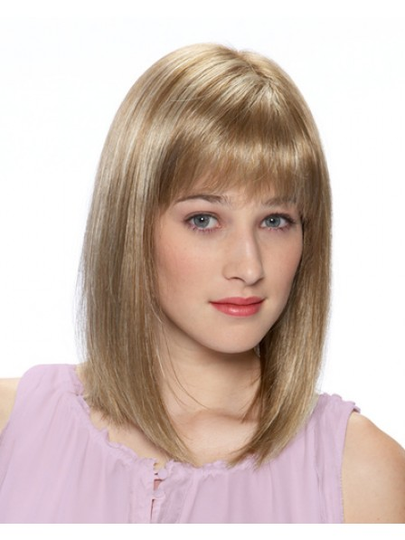 Nice Bob Style Capless Shoulder Length Cut Wig With Bangs
