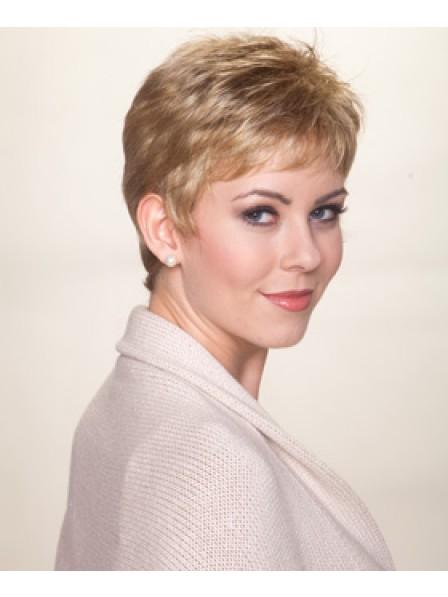Ladies High Quality Pixie Cut Human Hair Wig for Hair Loss