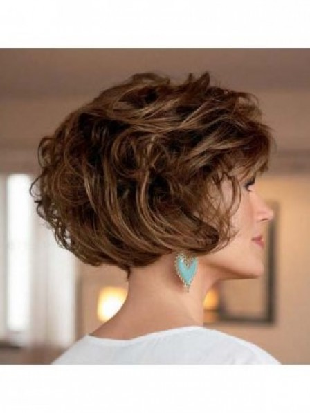 Classic Layered Short Wavy Women Hair Synthetic Wigs