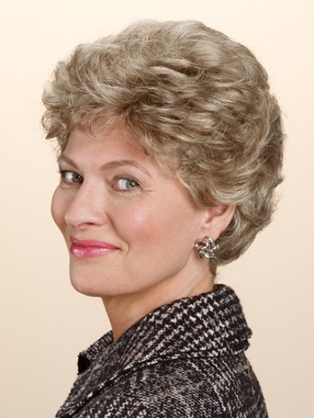 Fabulous Short Wavy Hair Synthetic Wig For Old Women