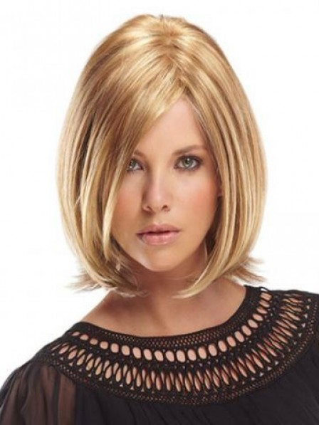 High Quality Lace Front Chin Length Straight 100% Human Hair Wig