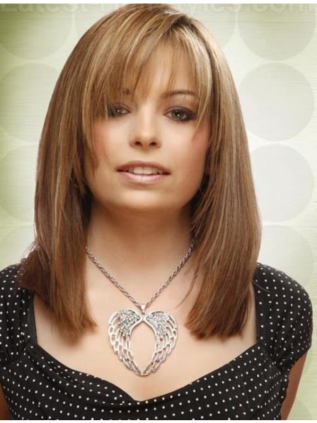 Best Quality Shoulder Length Layered Natural Hair Wigs Lace Front