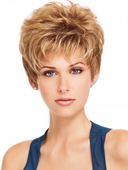 Cheap Women's Capless Short Pixie Cut Hair Wig 2019