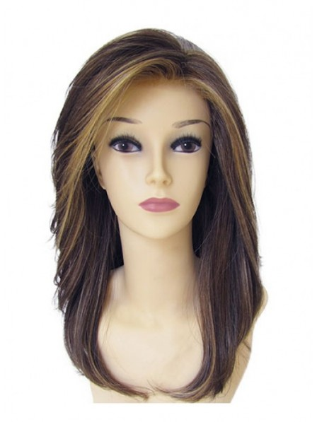 Long Layered Lace Straight Hair Wigs Natural Look