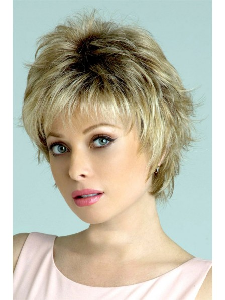 Affordable Synthetic Wavy Layered Hair Wig With Bangs