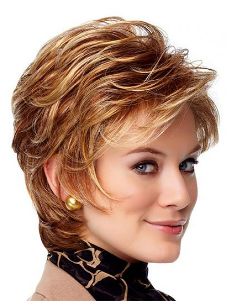 New Synthetic Short Straight Lace Front Monofilament Hair Wigs