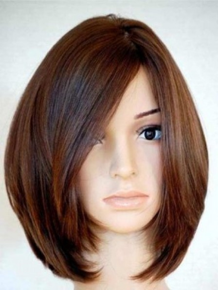 Best 100% Human Hair Chin Length Straight Lace Front Mono Top Wig