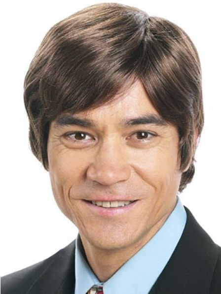 Low Price Straight Capless Wig With Bangs For Men New Design