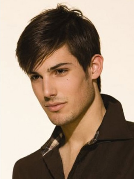 Best Lace Front Straight Hair Wig With Bangs For Men
