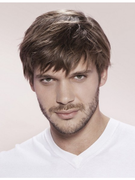Affordable Synthetic Straight Mens Hair Capless Mens Petite Wigs