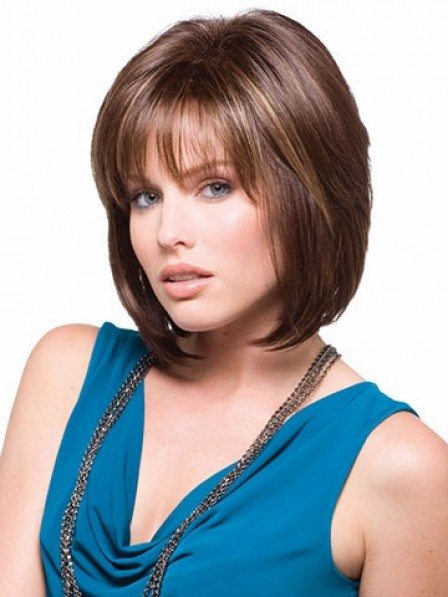 New Bob Straight Capless Chin Length Synthetic Hair Wig Store