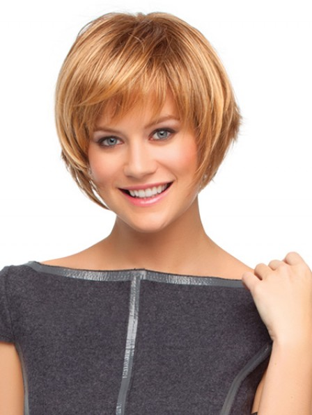 Modern Capless Short Synthetic Wig With Bangs For Women