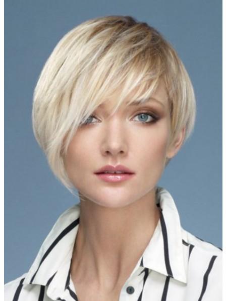 Popular 100% Human Hair Short Straight Hair Wig Hot Sale