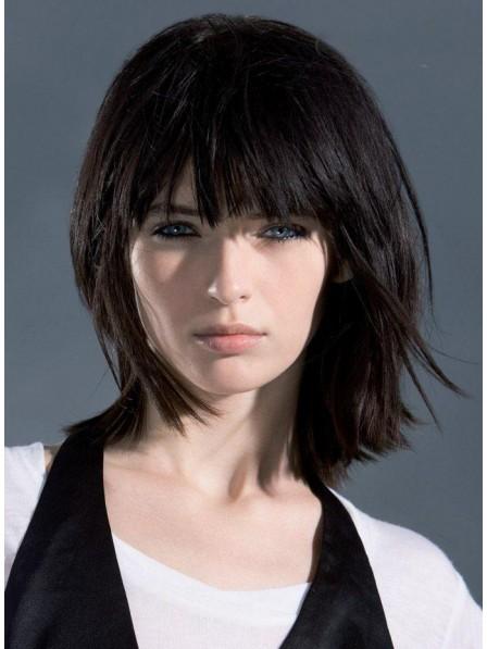 Cute Women's Straight Capless Human Hair Wigs Store