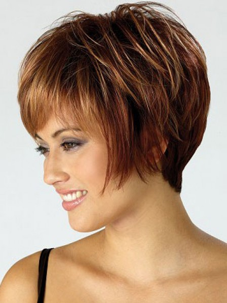 Pretty Short Capless Synthetic Hair Capless Staight Wigs New Arrival