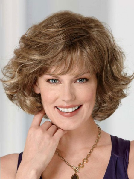 Fabulous Lace Front Wavy Women Hair Wig With Bangs